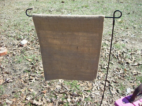 6 wholesale handmade blank garden flags burlap