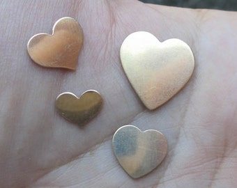 """Gold Filled Heart Stamping(5/8"""",1/2"""", 3/8"""") You choose which one"""
