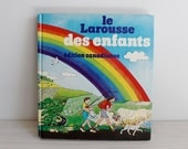 Vintage 80s French children dictionary Canadian edition - Le Larousse des enfants