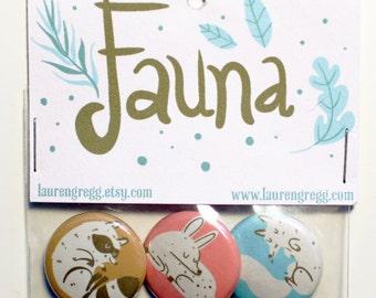 Fauna Button Pack