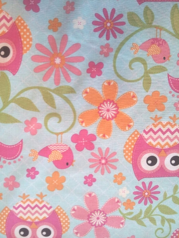 Unavailable listing on etsy for Bird nursery fabric