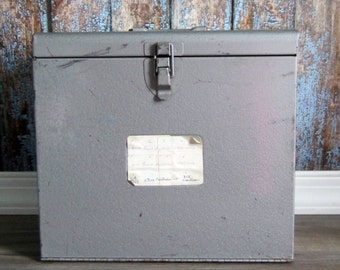 Vintage Metal Slide Holder with some slides
