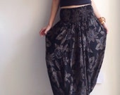 3 in 1 Harem Pant with Black Floral Printed