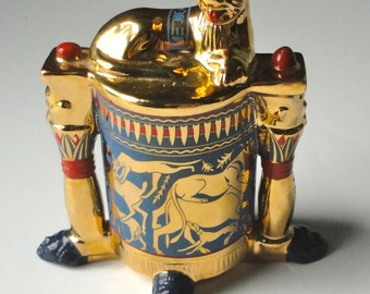 1989 FRANKLIN MINT. The Treasures of Tutankhamun. Unguent Container.