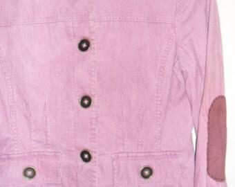 Steampunk Military Style Dusky Pink Corduroy 'Rifleman' Jacket