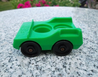 Vintage Little People Green Family Car