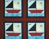 Finished & Quilted Sailboat Quilt