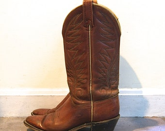SALE / Leather Western Boot // Vintage ACME Womens 7