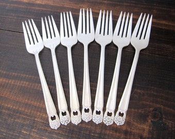 Vintage Salad Forks, Eternally Yours 1941 by 1847 Rogers Bros., Silverplate, Priced Per Fork