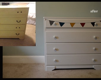 Pennant Flag Painted Dresser