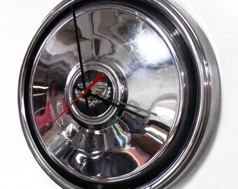 1972 - 1976 Ford Mercury Hubcap Clock - Torino Ranchero Montego Hub Cap - 1973 1974 1975 Automotive Art - Man Cave Garage