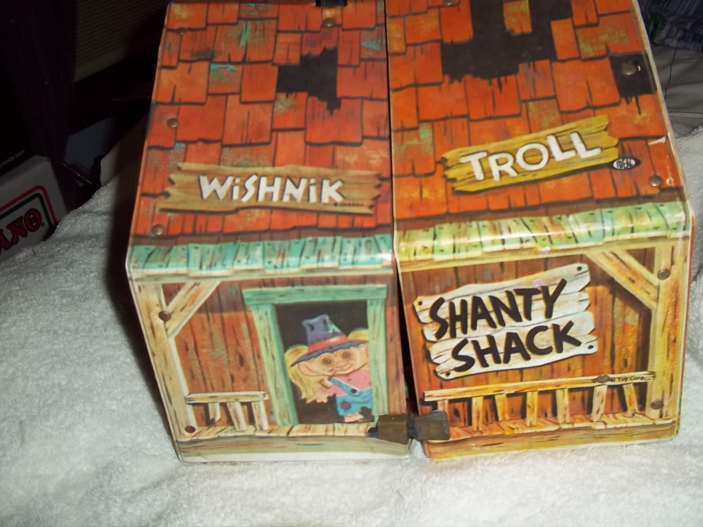 TROLL vintage doll house WISHNIK TROLL yellow by ...