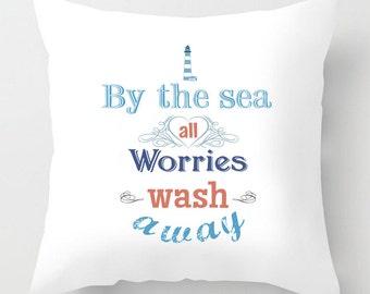 By the sea throw cushion / pillow beach, inspirational decor