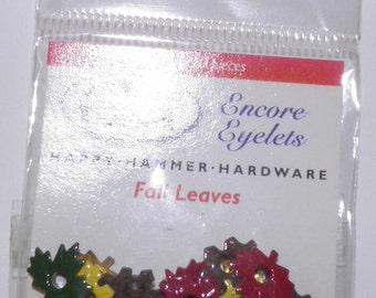 ON SALE  Fall Leaves Eyelets