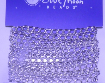 Blue Moon - Silver Metal Small Cable Chain