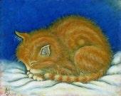 Ginger Tabby Kitten blank notecards. Set of 5