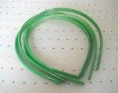 Apple Green Plastic Headbands (4)