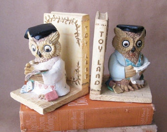 Studious Owl Bookends