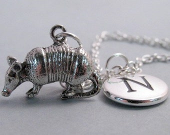 Armadillo Silver Plated Charm  Jewelry Supplies