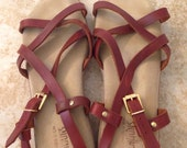 bass strappy leather sandals size 9