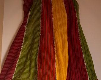 80s 70s wrap skirt beaded hippie boho tribal ethnic grunge 90s
