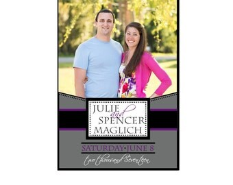 Wedding and Rehearsal Dinner Photo Wine Labels - Modern - Personalized Bridesmaid Gifts