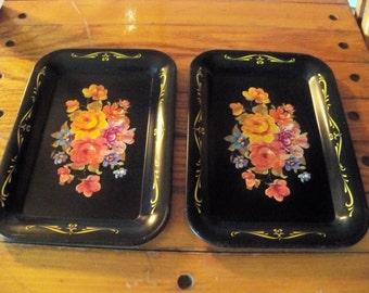pair of mini vintage trays