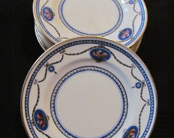 Set of 8 Royal Worcester Small Salad Plates  - CAMEO Pattern