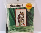 Crewel Embroidery Kit, Valiant Stitchery Great Horned Owl, New, Unopened