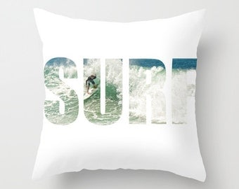 SURF Pillow Cover 16 x 16 Surf Surfer Home Decor
