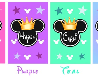 DISNEY PRINCESS Minnie Mouse Luggage Tags - You choose how many you want!  Personalized for Free - Laminated Sturdy CUSTOM