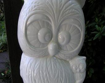 Owl Mom & Baby Garden Statue