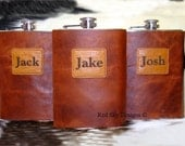 Gift/Wedding Groom and Groomsmen --  Red Sky Flasks  --  8 oz/6oz/4oz Stainless Steel Flasks Bridesmaides/ Hunters/Footbal