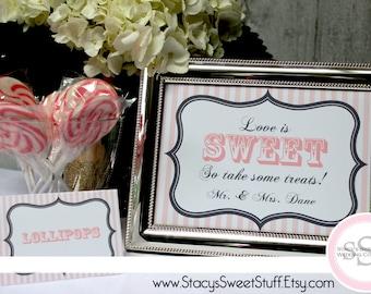 Dessert, Candy Buffet Sign, Custom, DIY, Printable
