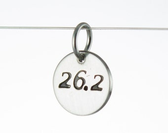 26.2 Marathon Charm Sterling Silver