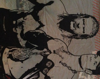 Wrestling Stars Standard Pillowcase- Reclaimed Bed Linens