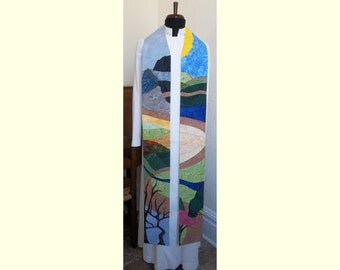 Clergy Stole for Ordinary Time -- Psalm 23 Road -- Will ship February 4 - 28, 2016