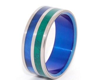 wedding rings, titanium rings, wood rings, men's ring, women's ring, unique wedding ring, engagement rings, commitment ring - NEW DAWN
