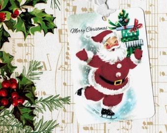 Santa Gift Tags - Christmas Tags - Merry Christmas