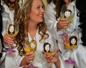 Maid of Honor Gift - Hand Painted Wine Glass - Caricature - Cool Bridesmaid Gift - Hand Painted Bridesmaid Wine Glasses