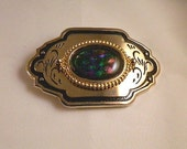 Northern Lights Dichroic Fused Glass Belt Buckle, GB19726 style