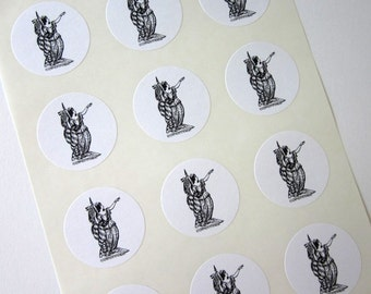 Lady Liberty Stickers One Inch Round Seals