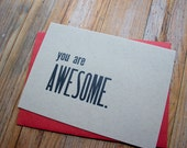 You are Awesome - 4bar letterpress card