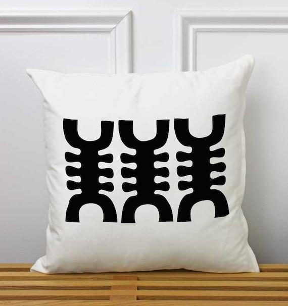 Throw Pillows Jysk : African Symbol Adinkra Decorative Pillow Ghana Tribal
