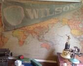 Vintage Wilson College Felt Pennant Oversized