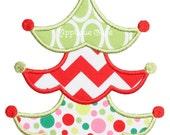713 Christmas Tree 9 Machine Embroidery Applique Design