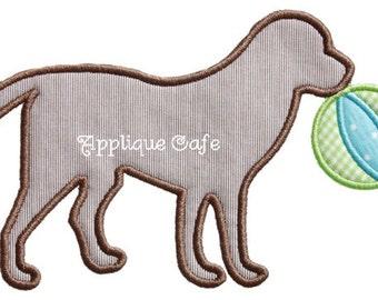 442 Beach Ball Dog Machine Embroidery Applique Design