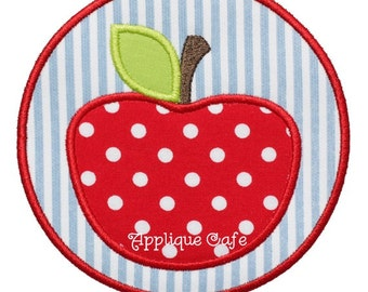 642 Apple Patch Machine Embroidery Applique Design
