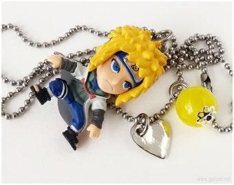 Naruto Necklace, Minato Figure Pendant, Stainless Steel Chain - Anime Jewelry, Kawaii