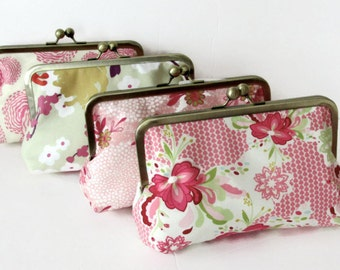 Bridesmaid Gift Clutches for your Wedding - Bouquet Clutch You choose fabrics